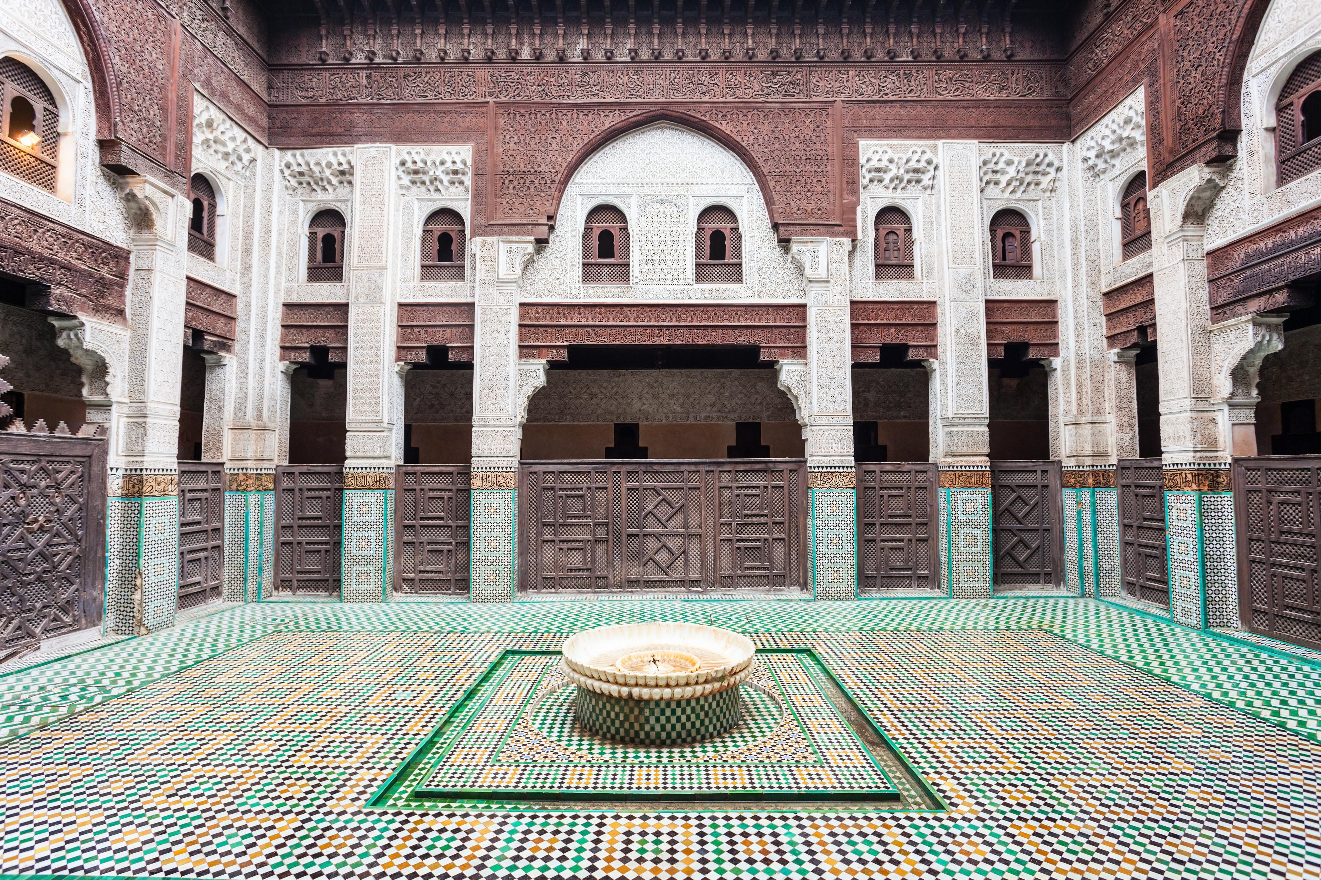 Detalle de la madraza Bou Inania, en Meknes