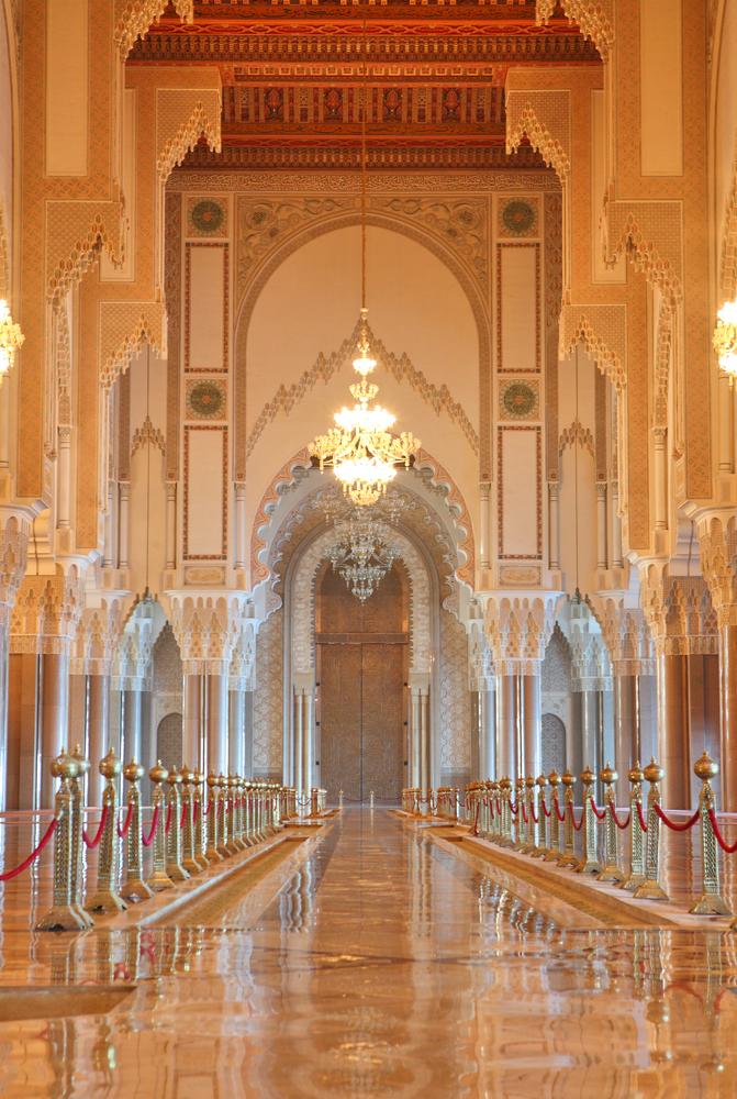 Interior de la Mezquita Hassan II